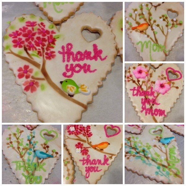 Jumbo Hand Decorated Mother's Day hearts collage